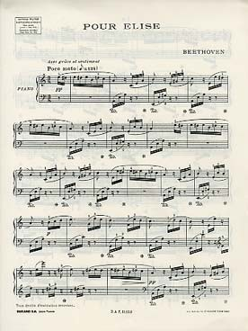 Beethoven L Lettre A Elise Piano