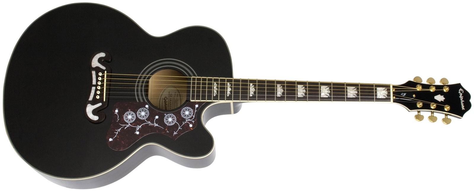 guitare folk lectro acoustique epiphone ej200ce bk black. Black Bedroom Furniture Sets. Home Design Ideas