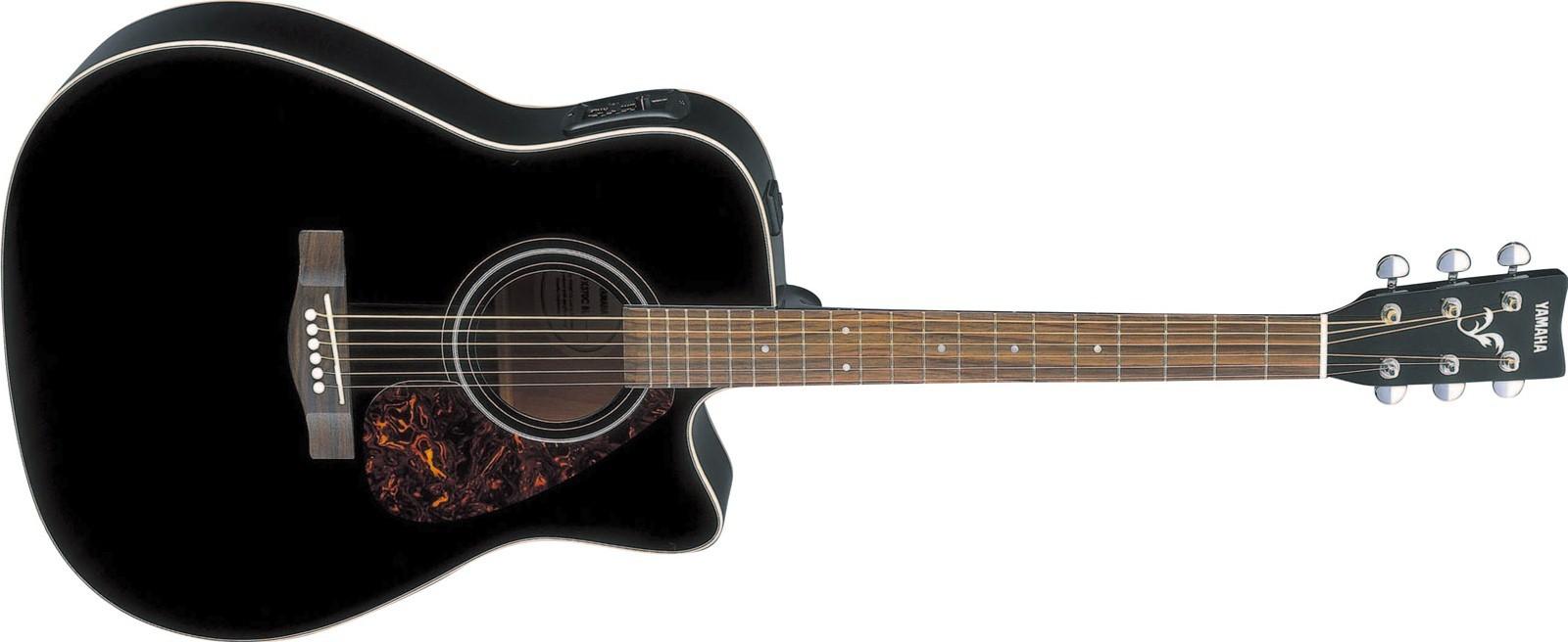 guitare folk electro acoustique yamaha fx370cbl black. Black Bedroom Furniture Sets. Home Design Ideas