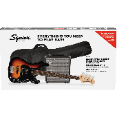 PACK BASSE SQUIER PRECISION BASS PJ PACK 3-COLOR SUNBURST