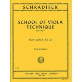 SCHRADIECK H. ECOLE DE LA TECHNIQUE VOL 1 ALTO