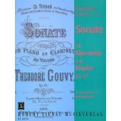 GOUVY T. SONATE OP 67 CLARINETTE