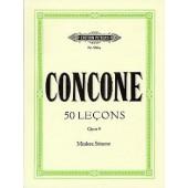 CONCONE G. 50 LEZIONI OP 9 VOIX MOYENNE PIANO