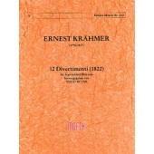 KRAHMER E. 12 DIVERTIMENTI FLUTE A BEC SOPRANO SOLO
