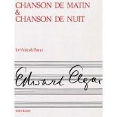 ELGAR E. CHANSON DE MATIN ET CHANSON DE NUIT OP 15 N°1 ET 2 VIOLON