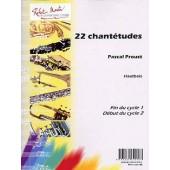 PROUST P. 22 CHANTETUDES HAUTBOIS