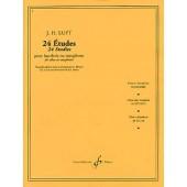 LUFT J.H. 24 ETUDES HAUTBOIS OU SAXOPHONE