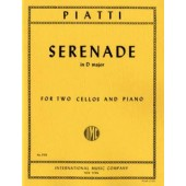 PIATTI A. SERENADE D MAJOR 2 VIOLONCELLES PIANO