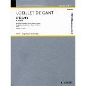 LOEILLET DE GANT J.B. 6 DUOS VOL 1 FLUTES A BEC ALTO OU 2 VIOLONS OU 2 HAUTBOIS OU 2 FLUTES