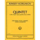RIMSKY-KORSAKOV N. QUINTETTE BB MAJEUR