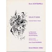 BONTEMPELLI B. DEUX ETUDES BATTERIE