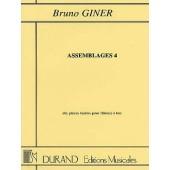 GINER B. ASSEMBLAGES 4 FLUTES A BEC
