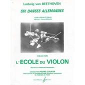 BEETHOVEN L.V. DANSES ALLEMANDES (6) VIOLON