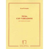 FRANCAIX J. TEMA CON VARIAZIONI CLARINETTE EN LA