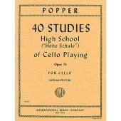 POPPER D. 40 STUDIES OPUS 73 VIOLONCELLE
