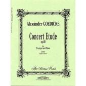 GOEDICKE A. CONCERT ETUDE OP 49 TROMPETTE