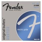 JEU DE CORDES GUITARE FENDER ORIGINAL BULLETS 3150R REGULAR 010/046
