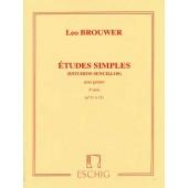 BROUWER L. ETUDES SIMPLES 3ME SERIE GUITARE