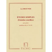 BROUWER L. ETUDES SIMPLES 4ME SERIE GUITARE