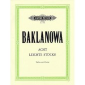 BAKLANOVA N. 8 LEITCHE STUCKE VIOLON PIANO