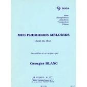 BLANC G. MES PREMIERES MELODIES SAXO, TROMPETTE, FLUTE TRAVERSIERE
