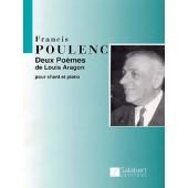 POULENC F. 2 POEMES DE LOUIS ARAGON CHANT