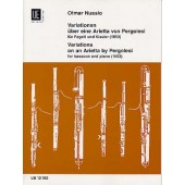 NUSSIO O. VARIATIONS ON AN ARIETTA BY PERGOLESI BASSON
