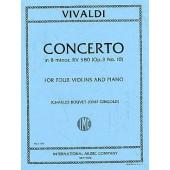 VIVALDI A. CONCERTO OP 3 N°10 4 VIOLONS