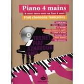 PIANO 4 MAINS CHANSONS FRANCAISES