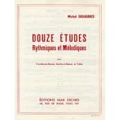 DELGIUDICE M. DOUZE ETUDES RYTHMIQUES ET MELODIQUES TROMBONE BASSE, TUBA