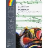 PRINTEMPS G. OCRE ROUGE MARIMBA VIOLONCELLE PIANO