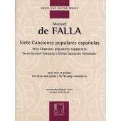 DE FALLA M. 7 CHANSONS POPULAIRES ESPAGNOLES CHANT