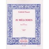 FAURE G. 20 MELODIES VOL 3 CHANT