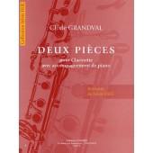 GRANDVAL (DE) CL. DEUX PIECES CLARINETTE