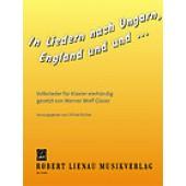 GLASER VON WERNER WOLF  IN LIEDERN NACH UNGARN, ENGLAND UND UND...FUR KLAVIER VIERHANDING