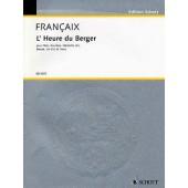 FRANCAIX J. L'HEURE DU BERGER QUATUOR A VENT