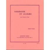 GROVLEZ G. SARABANDE ET ALLEGRO CLARINETTE
