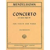 MENDELSSOHN F. CONCERTO MI MINEUR VIOLON
