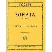 ECCLES H. SONATA G MINOR VIOLON