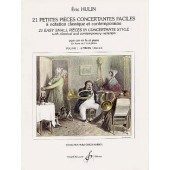 HULIN E. 21 PETITES PIECES CONCERTANTES VOL 1 COR