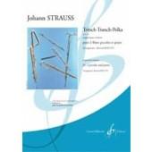 STRAUSS J. TRITSCH-TRATSCH-POLKA 2 FLUTES PICCOLOS