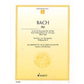 BACH J.S. AIR DE LA SUITE EN RE BWV 1068 CLARINETTE