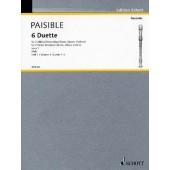 PAISIBLE J. DUETTTE OP 1 VOL 1 FLUTES A BEC OU 2 VIOLONS OU 2 HAUTBOIS OU 2 FLUTES