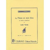 VIERNE L. 24 PIECES EN STYLE LIBRE VOL 1 ORGUE