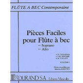 PIECES FACILES VOL 1 FLUTE A BEC