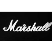 LOGO MARSHALL BLANC POUR AMPLI