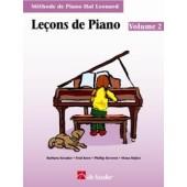 HAL LEONARD LECONS DE PIANO VOL 2 + CD