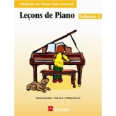 HAL LEONARD LECONS DE PIANO VOL 3 + CD