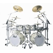 PEARL REFERENCE HYPER ROCK 22 4 FUTS BLANC AC CHROME