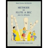 BOURGOIN M.C. METHODE DE FLUTE A BEC